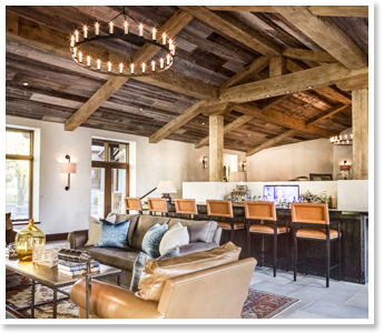 Great Room with Rustic Style